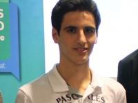 David Martínez de l'INS Pere Ribot rep el Premi Joan Monjo a la recerca jove 2014